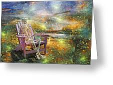 Mystical Sam On Topsail Greeting Card