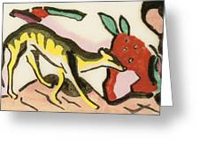 Mythical Animal  Greeting Card by Franz Marc