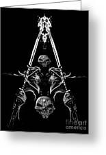 Mythology And Skulls 2 Greeting Card