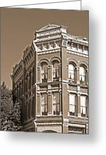 N. D. Hill Building. Port Townsend Historic District  Greeting Card