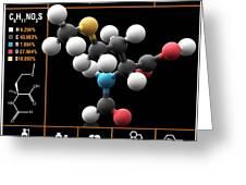 N-formylmethionine Amino Acid Molecule Greeting Card