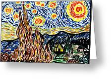 Vincent Van Goghs Starry Night Greeting Card
