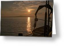 Sunset On Bar Harbor Greeting Card by Pro Shutterblade