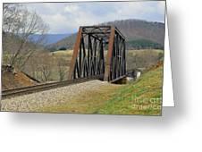 N W Railroad Trestle Greeting Card