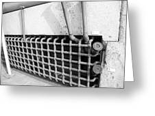 N Y C Grates In Black And White Greeting Card