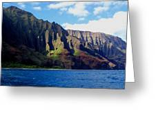 Na Pali Coast On Kauai Greeting Card