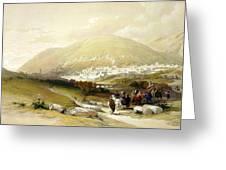 Nablus Old Shechem Greeting Card