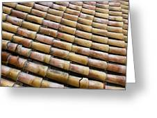 Nafplio Roof Tiles Greeting Card by David Waldo