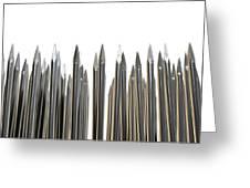 Nails Array Abstract Macro Greeting Card