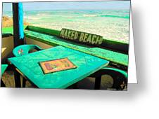 Naked Beach Cozumel Greeting Card