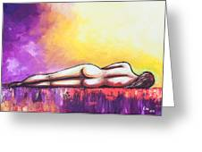 Naked On Fire Greeting Card