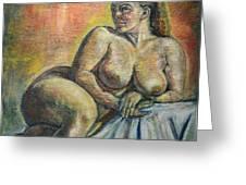 Naked Paris Greeting Card