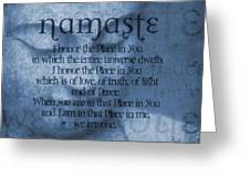 Namaste Blue Greeting Card