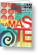 Namaste- Contemporary Abstract Art Greeting Card