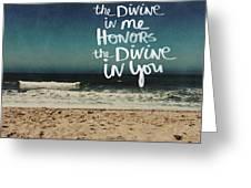Namaste Waves  Greeting Card