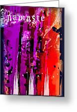 Namaste Greeting Card by Wendy Wiese