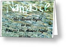 Namaste With Crystal Waters Greeting Card