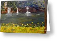 Nandroy Falls In Queensland Greeting Card