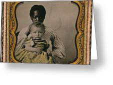 Nanny And Child, C1855 Greeting Card