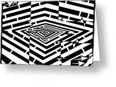 Nano Curcuits Maze  Greeting Card