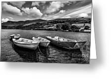 Nantlle Uchaf Boats Greeting Card