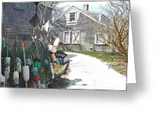 Nantucket Buoys Greeting Card