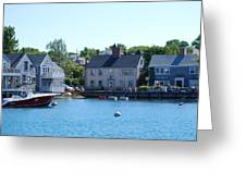 Nantucket Harbor Greeting Card by Lorena Mahoney