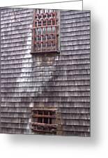 Nantucket Olde Gaol Windows Greeting Card