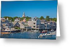 Nantucket Town Greeting Card
