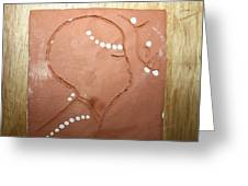 Naomi - Tile Greeting Card by Gloria Ssali