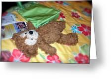 Nap Time Bear Greeting Card