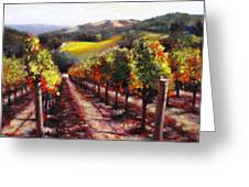 Napa Hill Side Vineyard Greeting Card