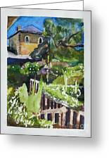 Napa Valley Winery In June Greeting Card