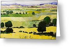 Napa Yellow2 Greeting Card