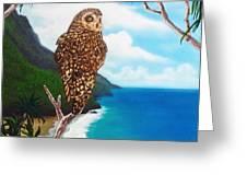 Napali Pueo Greeting Card