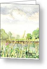 Napanee River West Greeting Card