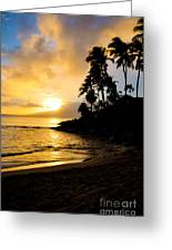Napili Sunset Evening  Greeting Card