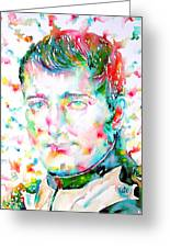Napoleon Bonaparte - Watercolor Portrait Greeting Card