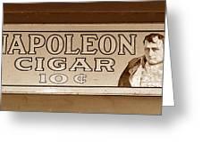 Napoleon Cigars Greeting Card