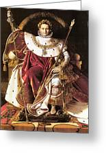 Napoleon I On His Imperial Throne Greeting Card