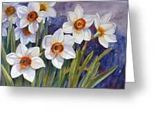 Narcissus Daffodil Flowers Greeting Card