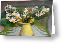 Narcissus In The Vase Greeting Card