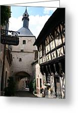 Narrow Alley In Bourbon Lancy Greeting Card