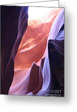 Narrow Canyon Xvi - Antelope Canyon Greeting Card