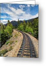 Narrow Gauge Tracks In Silver Country Greeting Card