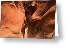 Narrow Red Rock Slots Greeting Card by Adam Jewell