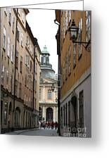 Narrow Road Stockholm Greeting Card