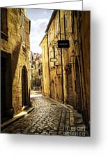 Narrow Street In Perigueux Greeting Card by Elena Elisseeva
