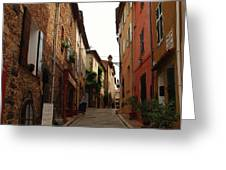 Narrow Street In Provence Greeting Card