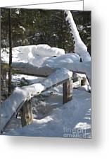 Narrow Trail Greeting Card